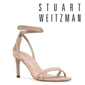 🆕Stuart Weitzman Ankle Straps Heeled Sandal Nude